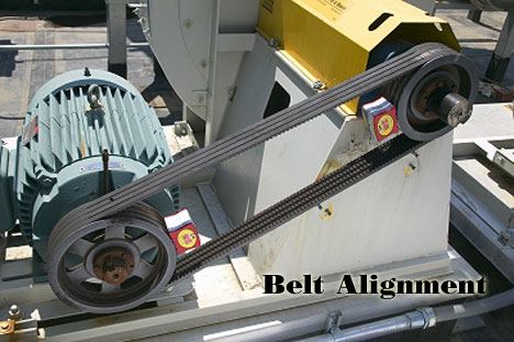 Industrial Mechanical Equipment Belt Alignment